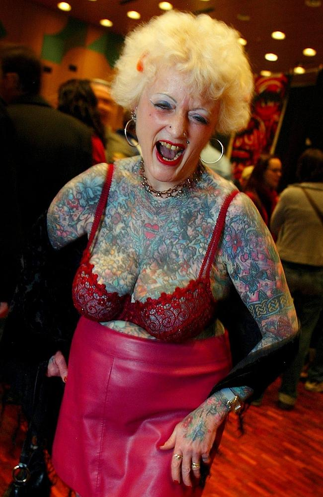 Wild for tatts? This is you at 60. Picture: EPA