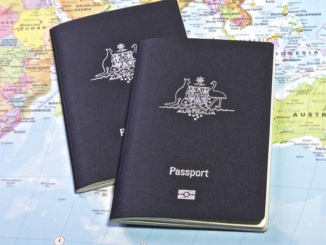The passport of Australia ... a vision in blue.