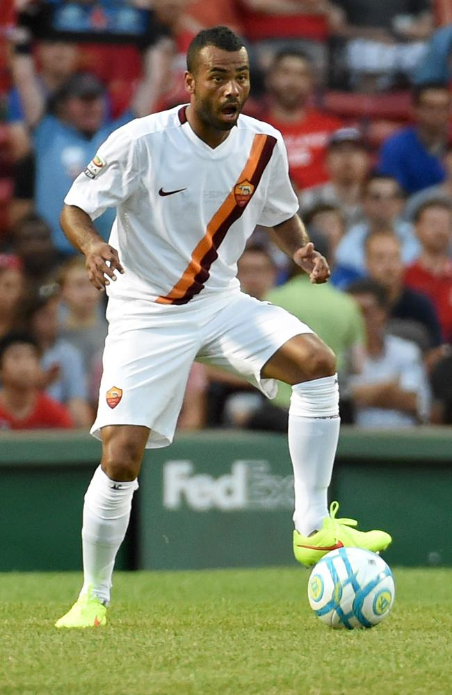 Roma's Ashley Cole was booed by the Boston public against Liverpool.