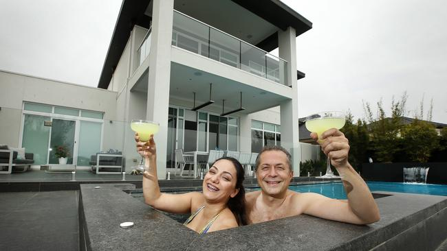 Branko Bugarski and wife Saba built their dream home on the water in Sanctuary Lakes. Picture: David Caird