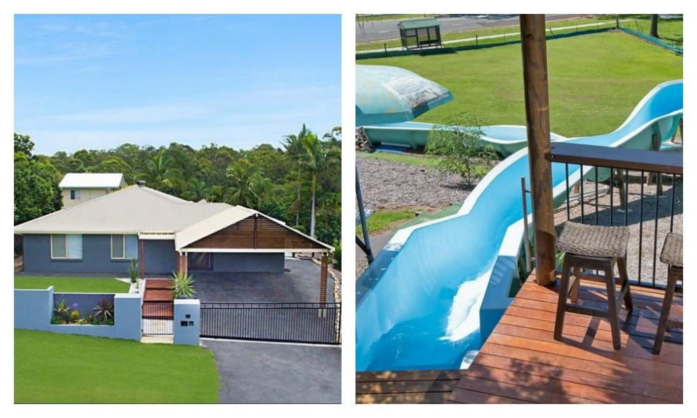 This house with it's own waterslide is all sorts of awesome