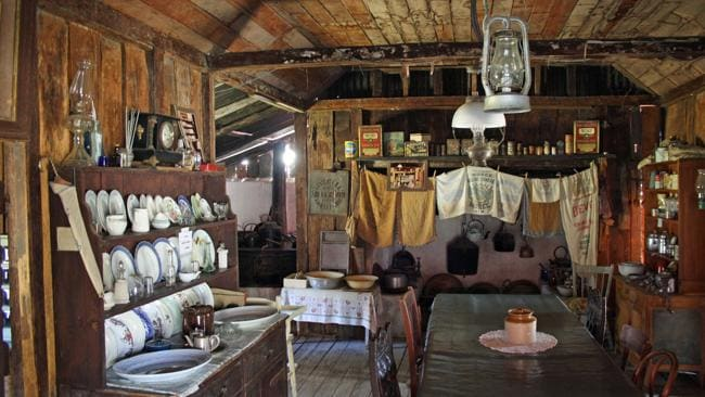 A colonial-era kitchen in Inverell Pioneer Village. Picture: Supplied