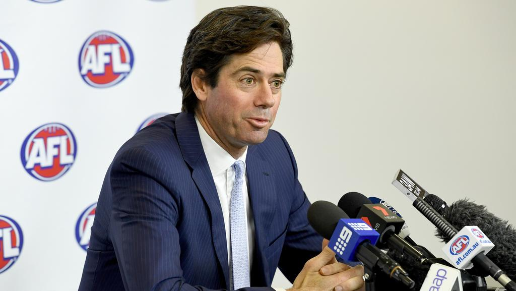 AFL Chief Executive Gillon McLachlan has been defended over the timing of him taking leave. (AAP Image/Joe Castro)