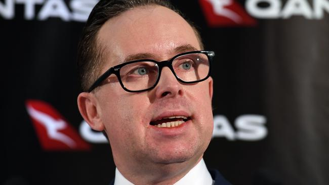 Qantas head Alan Joyce was singled out by Dutton as he accused company CEOs of using shareholders' money to drive a personal agenda. Picture: AAP