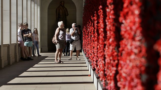 Visitors at the Australian War Memorial in Canberra. Picture: Ray Strange