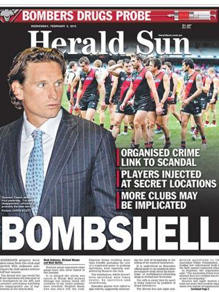 February 6, 2013: Essendon's self-reporting regarding supplements is made public.