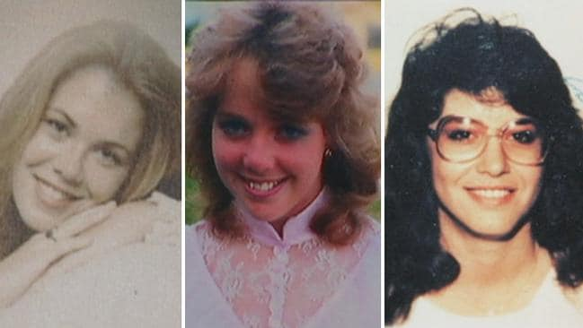 Bolin's victims (L-R) - Teri Lynn Matthews, Stephanie Collins and Natalie Holley. Picture: Bay News 9