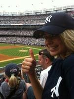 """Margot Robbie, the personal collection... """"My first Yankee game!"""" Picture: WhoSay"""
