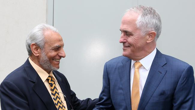 Unity ... Dr Ibrahim Abu Mohammed, Grand Mufti of Australia, pictured last month with PM Malcolm Turnbull. Picture: Kym Smith