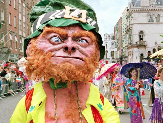 The St Patrick's Day parade in Dublin.