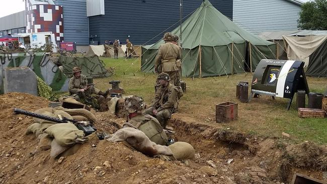 Re-enactment groups cover everything from WWII Soviet soldiers to American paratroopers to British commandos.