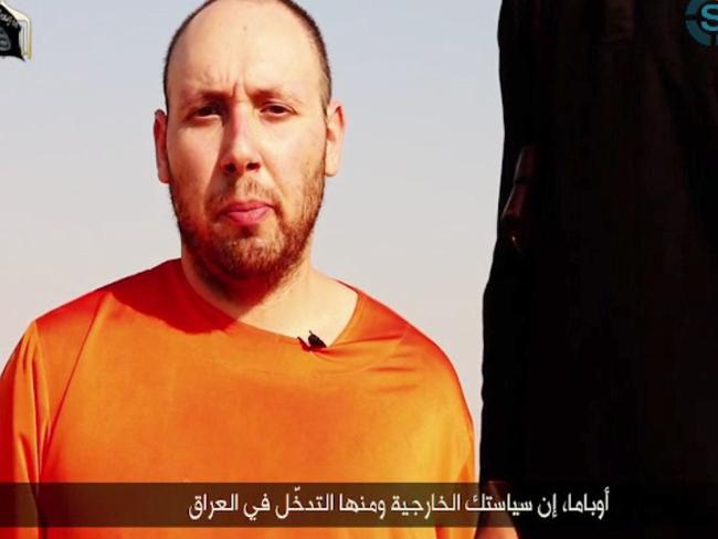 Horrific ... IS militants released footage showing American journalist Steven Sotloff being beheaded. Picture: AFP