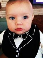 "BEHIND THE SCENES OSCARS 2014: Actor Josh Duhamel posts a photo of his son, ""I'd like to thank the academy for this excellent bib."" Picture: Instagram"