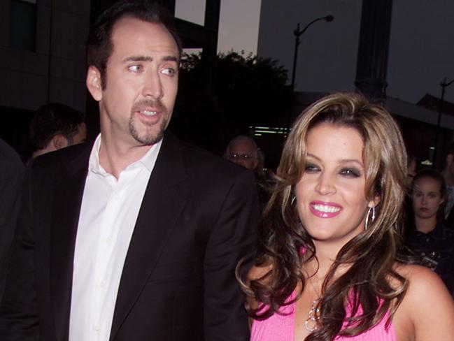 Nicolas Cage and Lisa Marie Presley. Picture: Kevin Winter/Getty Images.