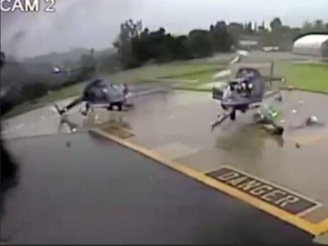 Incredibly, no one was seriously hurt in the crash. Picture: YouTube