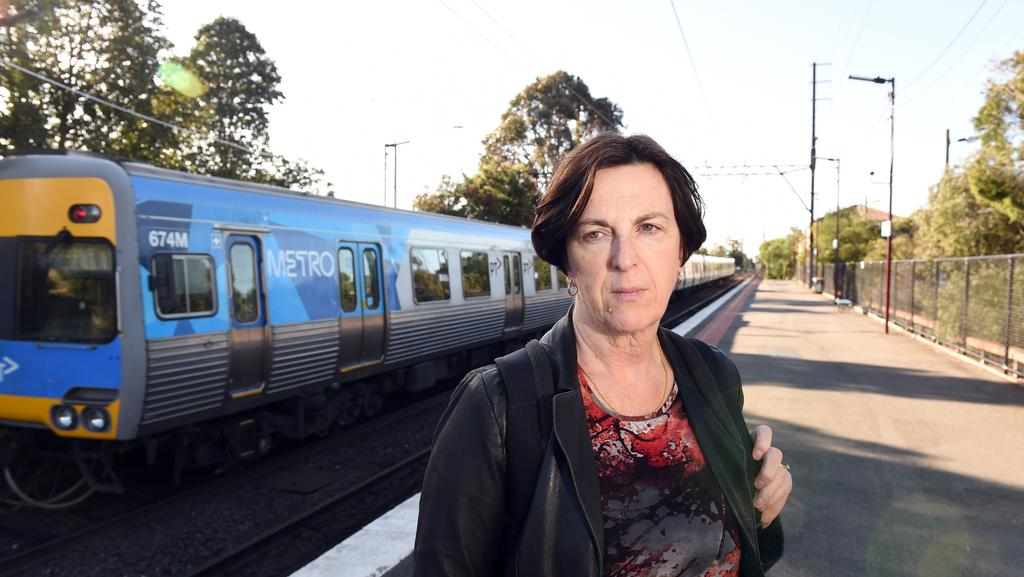 Commuter Sue Coburn says she feels more unsafe on trains than ever before. Picture: Jason Sammon
