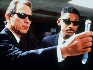 1997. Tommy Lee Jones and Will Smith in a scene from the film 'Men In Black'. Picture: Supplied