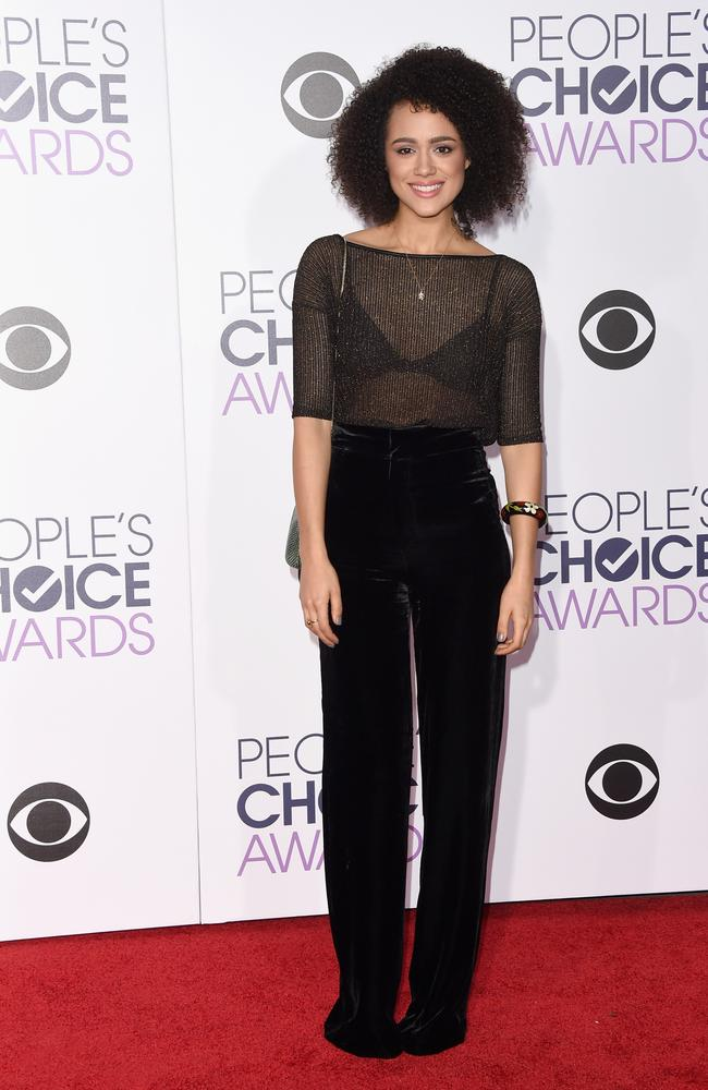Game of Thrones' Nathalie Emmanuel attends the People's Choice Awards 2016. Picture: Jason Merritt/Getty Images