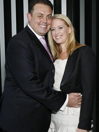 Michael and Rachel James at Strategic Airlines' Phuket launch. The airline has since folded. Picture: Julie Kiriacoudis