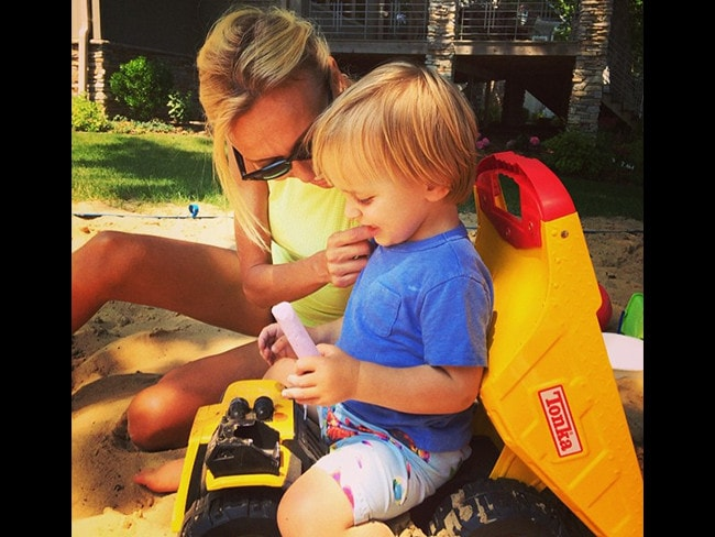 American television presenter Guiliana Rancic with son Duke. Picture: Instagram