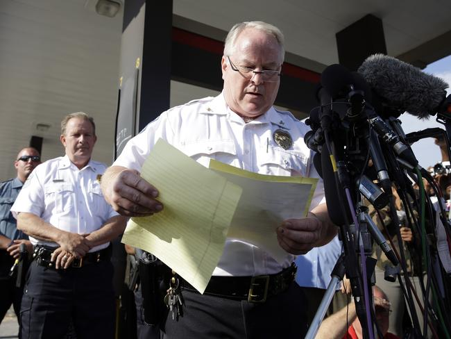 New details ... Ferguson Police Chief Thomas Jackson releases the name of the officer who fatally shot unarmed teenager Michael Brown.