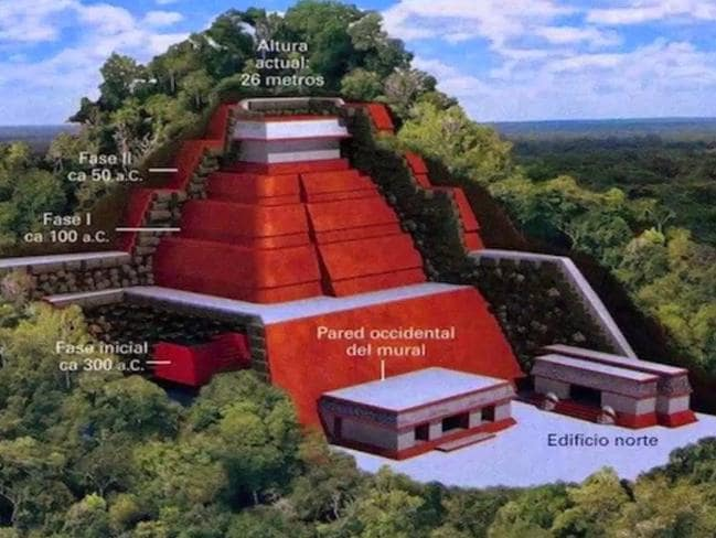 Tonina Chiapas ... An earlier impression of what the temple may look like.
