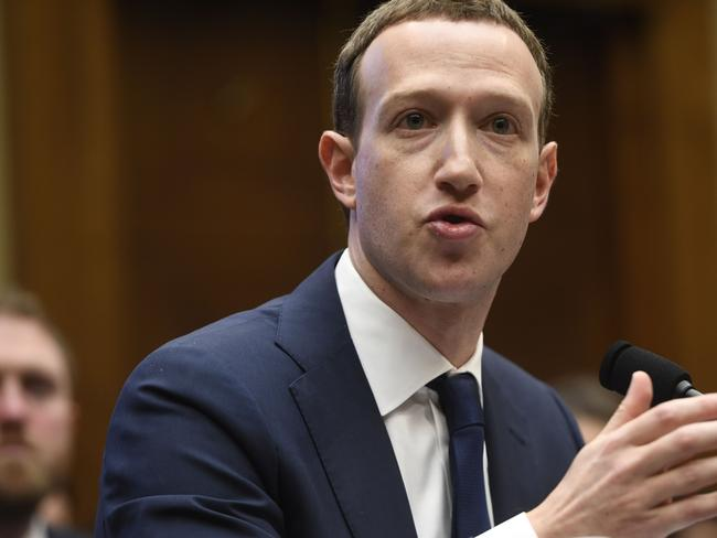 Facebook CEO and founder Mark Zuckerberg testifies during a US House Committee hearing about Facebook. Picture: AFP PHOTO / SAUL LOEB