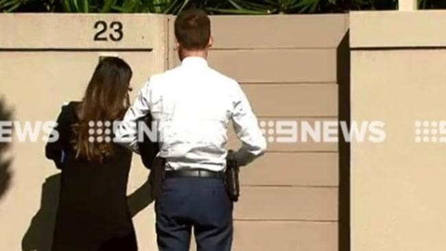 Detectives visit the home of Karen Ristevski. Picture: Twitter/Channel 9