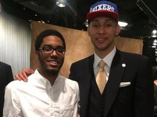 Number one NBA draft pick Ben Simmons with cousin Zachary, who was reportedly killed in a car accident. Picture: Twitter/Ben Simmons