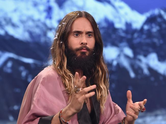 Sermon from the mount...Jared Leto shares some deep thoughts on The Tonight Show.