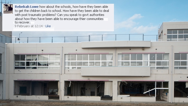 A Sendai City school lies abandoned after the tsunami destroyed the building. Picture: Helen Davidson