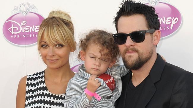Nicole Richie, Sparrow and her hubby Joel.