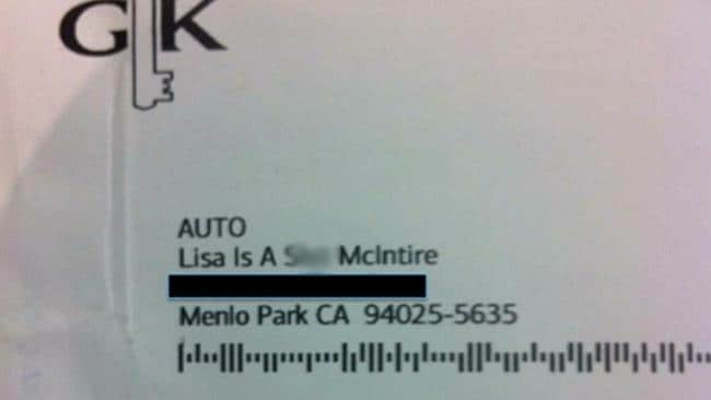 The original letter sent to her mother's address. Picture: Twitter, Lisa McIntire