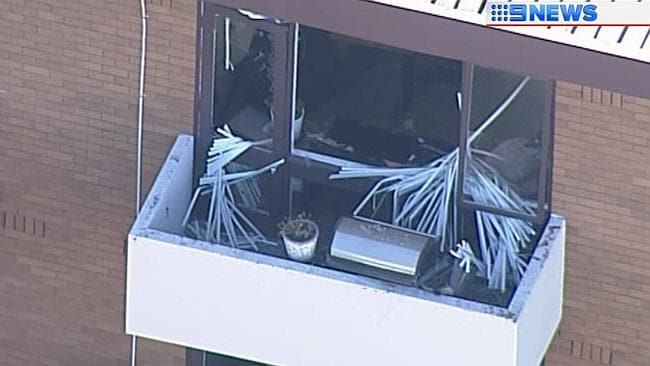 An aerial look at the damage. Picture: Nine news chopper.