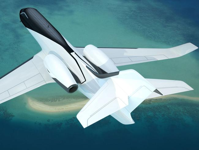 The futuristic plane. Picture: Technicon Design