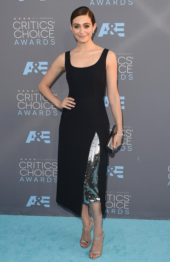 Emmy Rossum attends the 21st Annual Critics' Choice Awards on January 17, 2016 in California. Picture: Getty