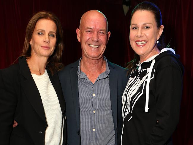 Rachel Griffiths, Gary Sweet and Julia Morris at a  <i>House Husbands </i>launch.