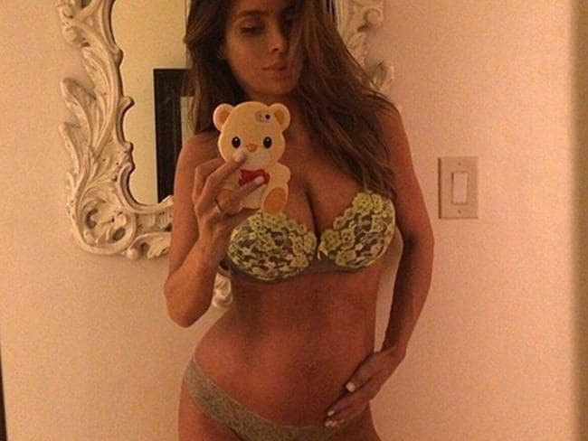 Sarah Stage posted this picture in her ninth month of pregnancy (in 2015). Picture: Instagram