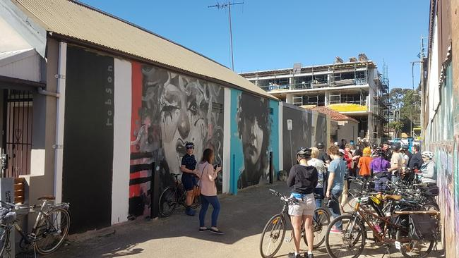 The laneway where the Brad Robson piece appeared has become a popular spot in the area.