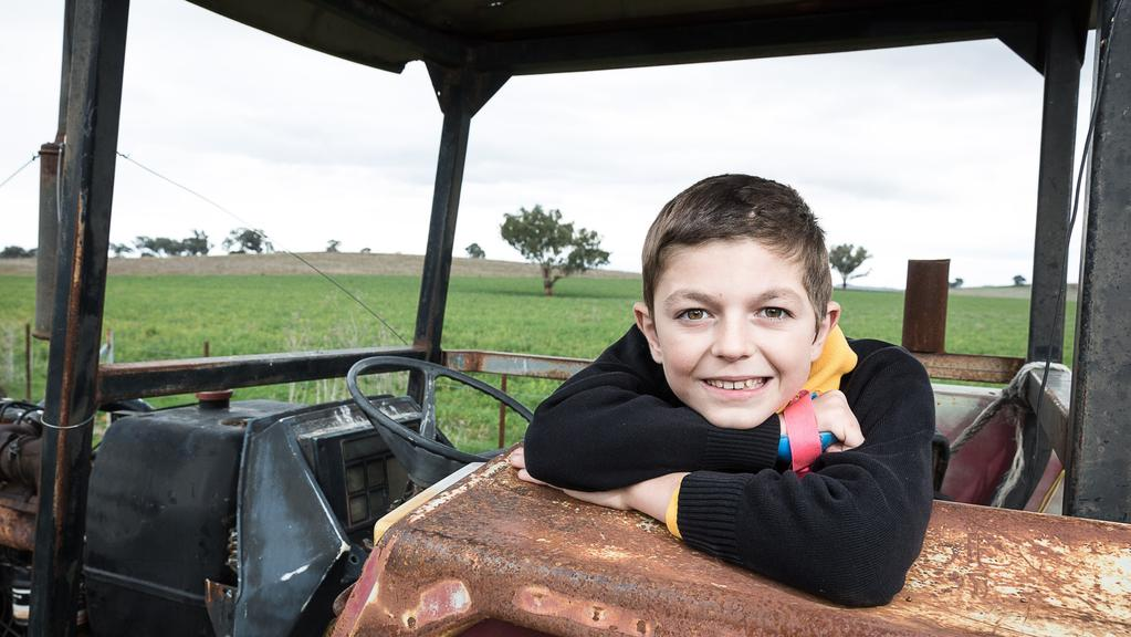 James Roberts 10, wants to meet with the people who helped save his life when he was just three years old. Picture: Graham Schuman