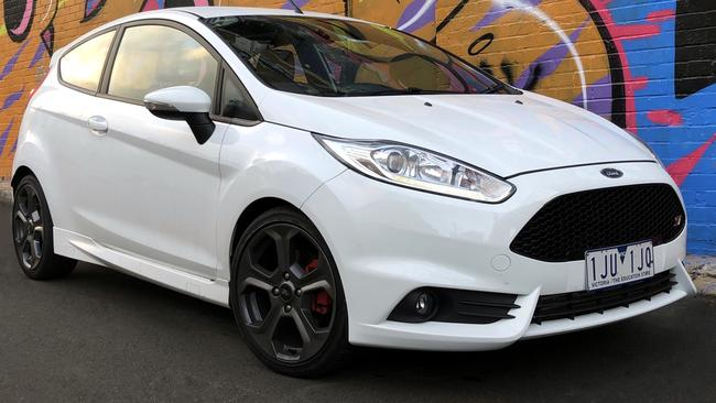 Sporty good looks: the Fiesta's bold snout shows its sporting intent.