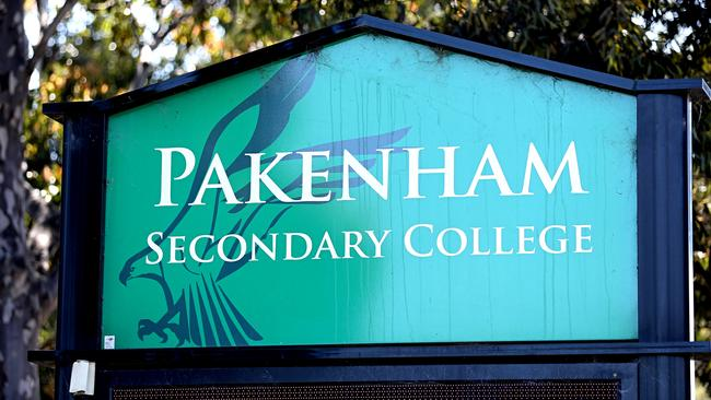 Pakenham Secondary College, southeast of Melbourne in Victoria, is on the list. Picture: Tim Carrafa