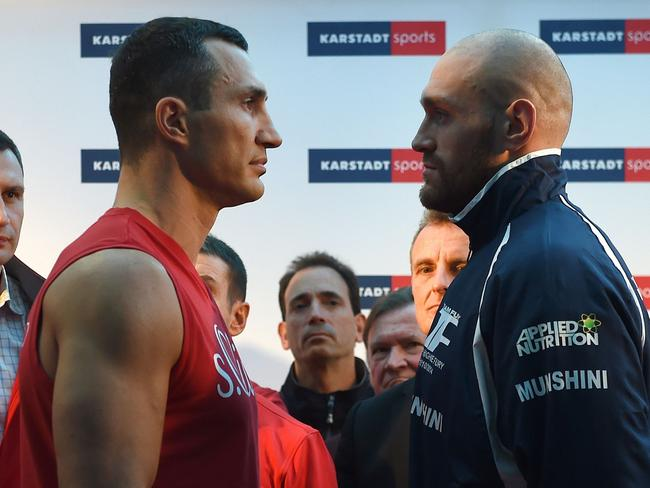 The two men faced in with Fury walking away the victor.