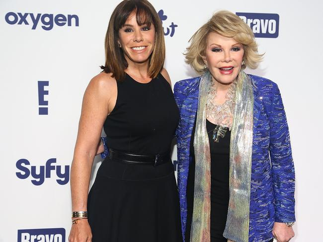 Family...Melissa Rivers and Joan Rivers attend the 2014 NBCUniversal Cable Entertainment Upfronts at The Jacob K. Javits Convention Center on May 15 in New York City. Picture: Getty