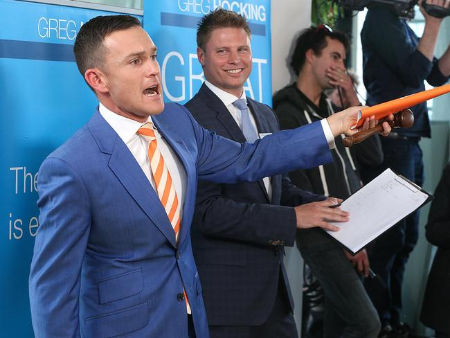 The Block auctions got heated as investors vied for the luxury, fully furnished apartments. Picture: Ian Currie