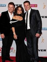Ben Fordham, Lisa Wilkinson and Karl Stefanovic arrive at the 2014 Logie Awards at Crown Palladium on April 27, 2014 in Melbourne, Australia. (Photo by Robert Prezioso/Getty Images)