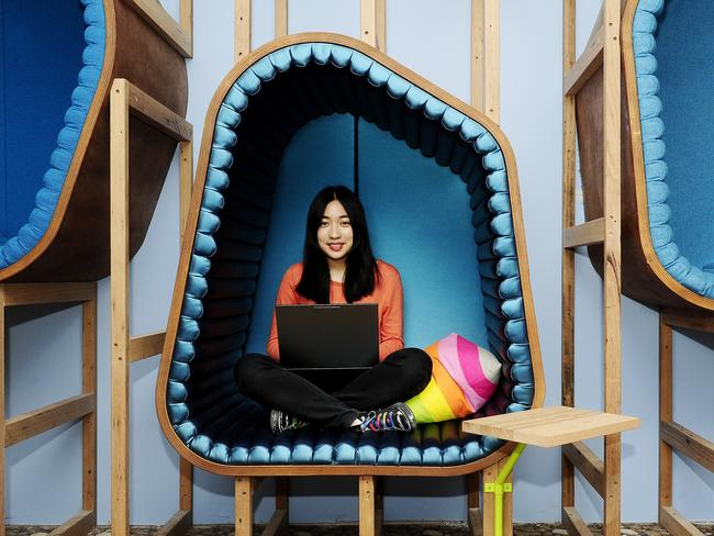 Google intern Janette Chiu in the company's Sydney office. Google gets more than two million job applicants a year.