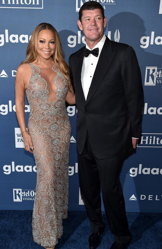 Mariah Carey and James Packer in happier times in New York City in May, 2016. Picture: Getty