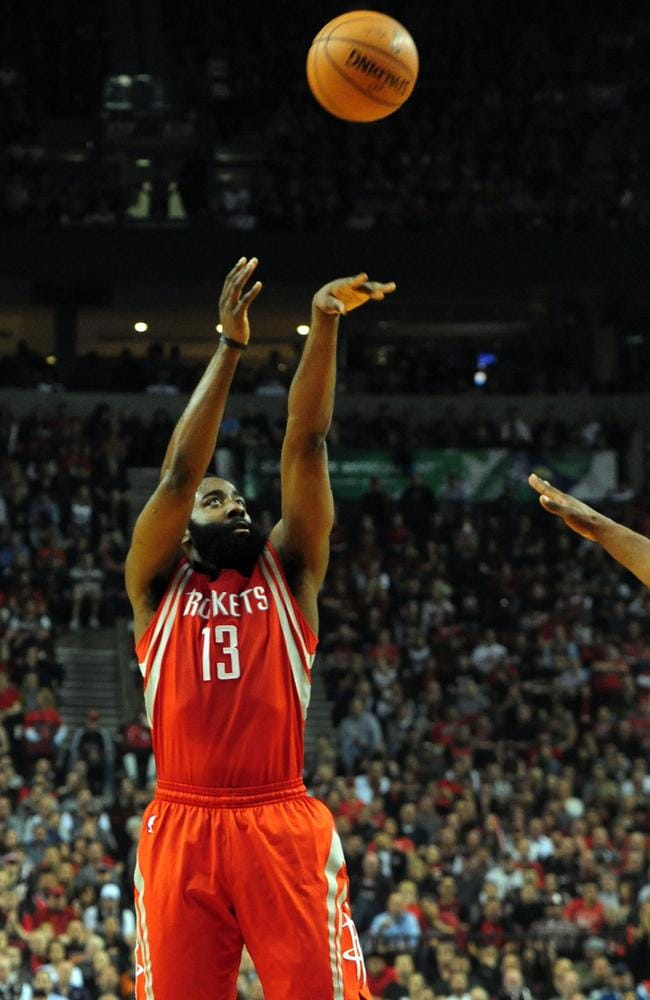 LeBron James would have the best chance of winning titles with James Harden at Houston, Silver says.