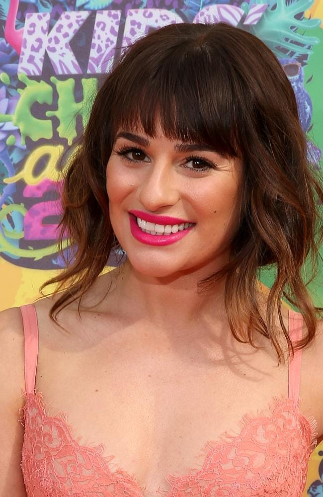 Stepping out ... Lea Michele was one of the many celebrity guests. Picture: Mark Davis